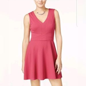 City Studio Sleeveless Fit & Flare Zip Back pink